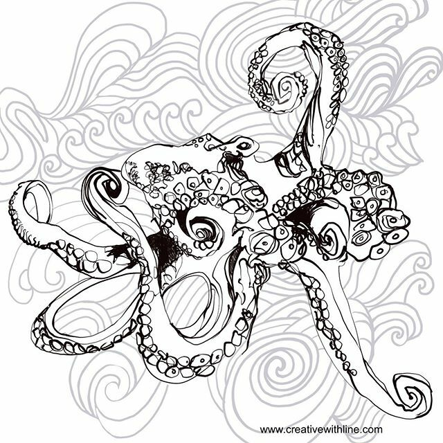 Another potential for the colouring collection. Anyone like octopuses? #creativewithline #linedrawing #colouringinfun #seacreatures #pricreate #digitaldrawing https://ift.tt/3dl45d4 pic.twitter.com/81KJfn6KsD