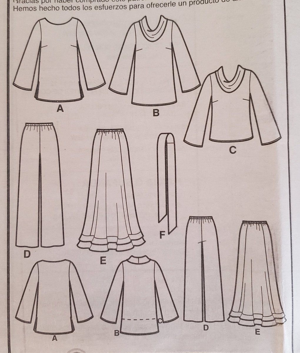 Skirt Pants Sash Scarf   Sewing Pattern Simplicity 3568 Women/'s//Misses/' Top