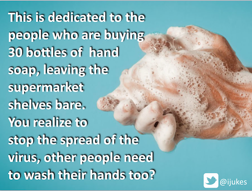 This is dedicated to the people who are buying 30 bottles of hand soap