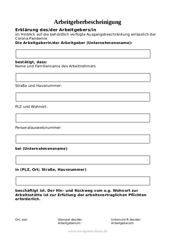 Nachweis Eines Arbeitsverhaltnisses Muster Word Pdf 7