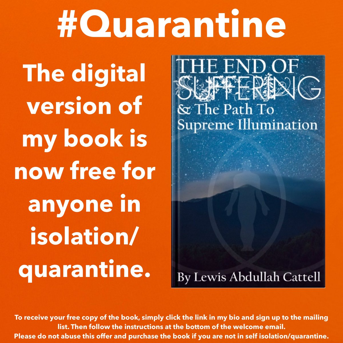 @itzmarkmarquez My book is free for anyone in quarantine (link in bio)