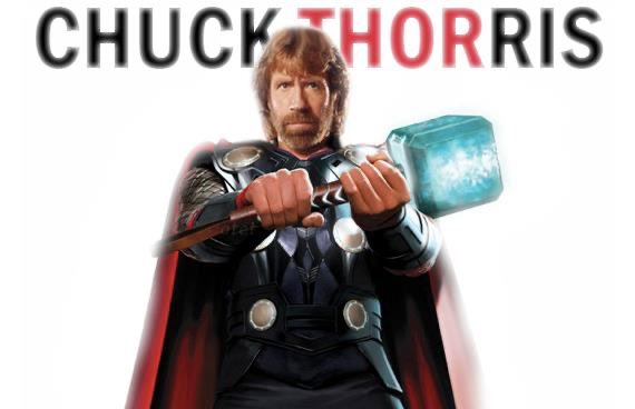 Chuck Norris didn't actually pick up Thor's hammer, he just held it steady and pushed the earth down with his feet.pic.twitter.com/zpnQfx0FrM