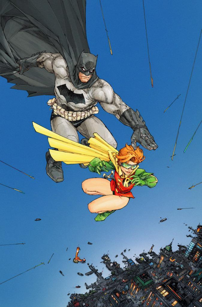 Dark Knight III: The Master Race #1 (Comic Con Box Exclusive Variant) (November 25, 2015) [Frank Miller's Batman: the Dark Knight Returns #3 [interior page 11] (1986)  homage] Cover artist by: Kenneth Rocafort #comicartpic.twitter.com/BanMgItfNt