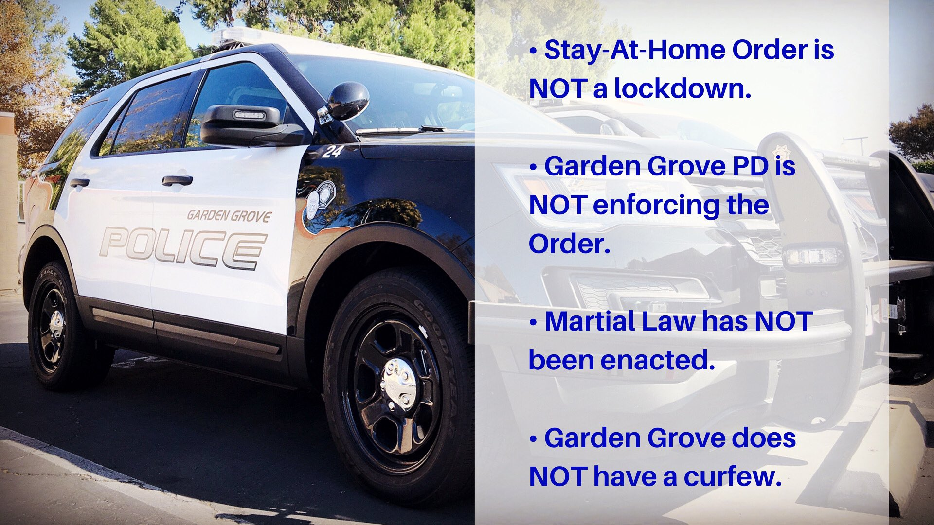 Garden Grove Police On Twitter We Ve Gotten Lots Of About