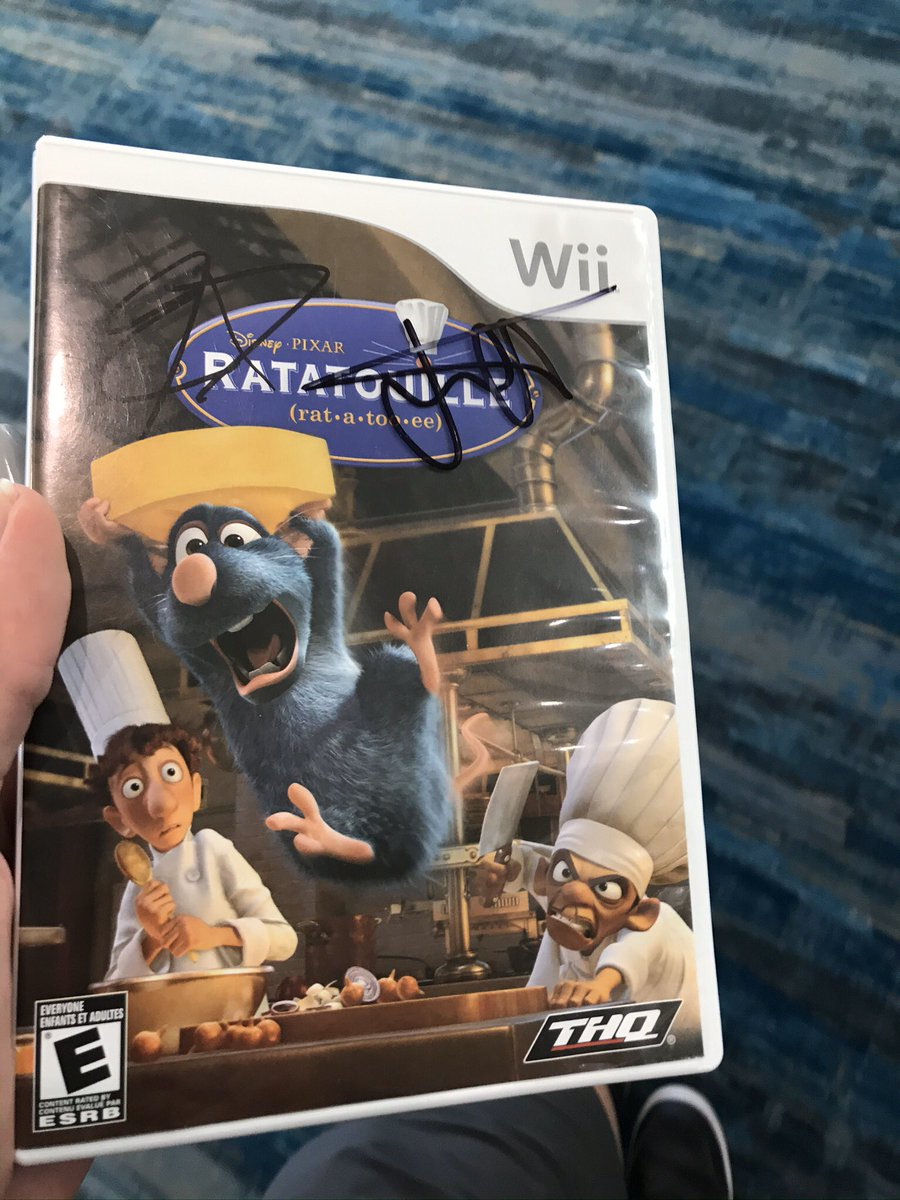 Thank you for signing my copy of ratatouille for the Wiipic.twitter.com/B5lTBTjmaP