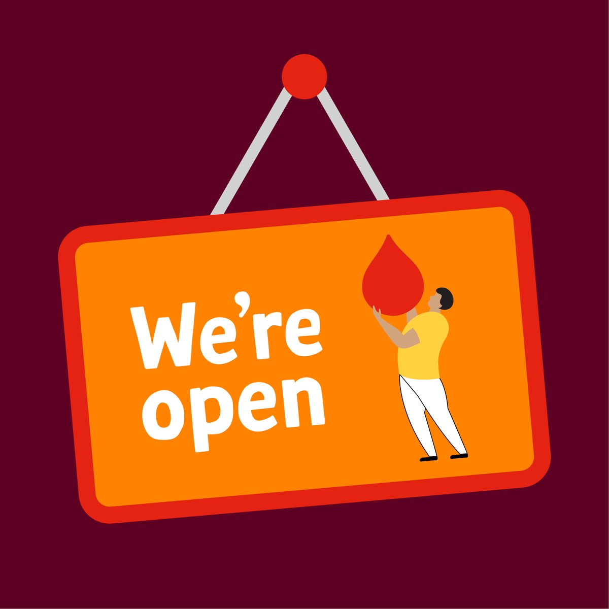 Our Blood Donor Centres remain open, and YOU are essential. We need you to help us meet demand, please make an appointment to donate blood: https://don8blood.com/397Ks4Z