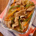 焼き肉のたれと鶏ガラで簡単!?レンジで作る「チャプチェ」!