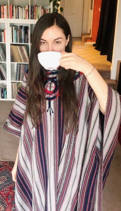 Rainy day in self isolation, perfect time to bust out my poncho that I got in Antigua (Guatemala) while