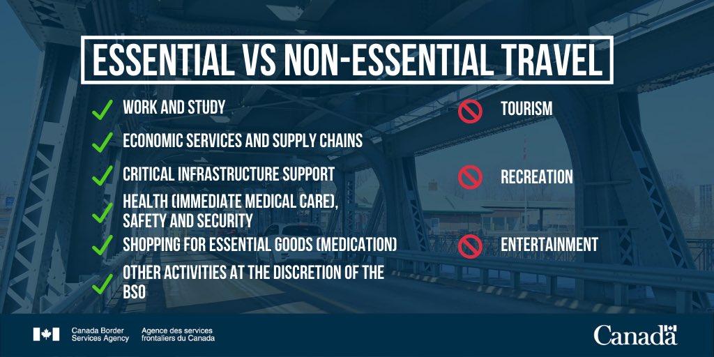 Essential vs non-essential travel  ⬇️⬇️⬇️