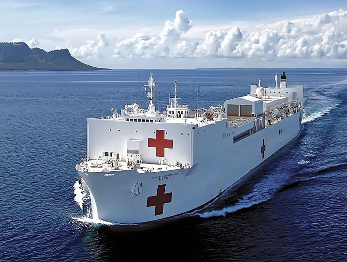 """Mayor Eric Garcetti on Twitter: """"The USNS Mercy is headed to the ..."""