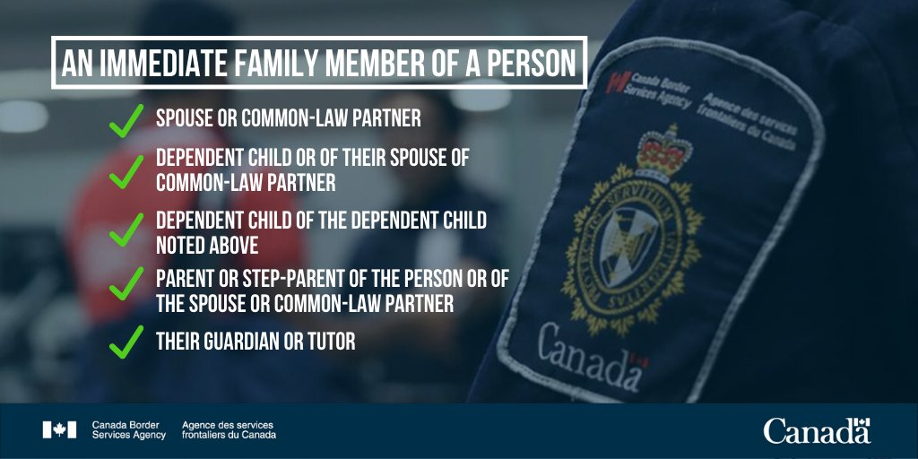 An immediate family member of a Canadian citizen or permanent resident is ⬇️⬇️⬇️