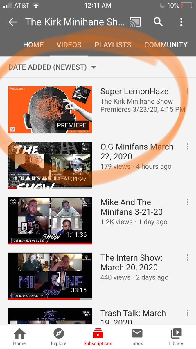 """Super excited for our """"First and ONLY"""" #superlemonhaze podcast on the @kirkminshow YouTube channel!! #tapthebell #subscribe #debut #kirkminihaneshow https://t.co/q1lzKwYFIl"""
