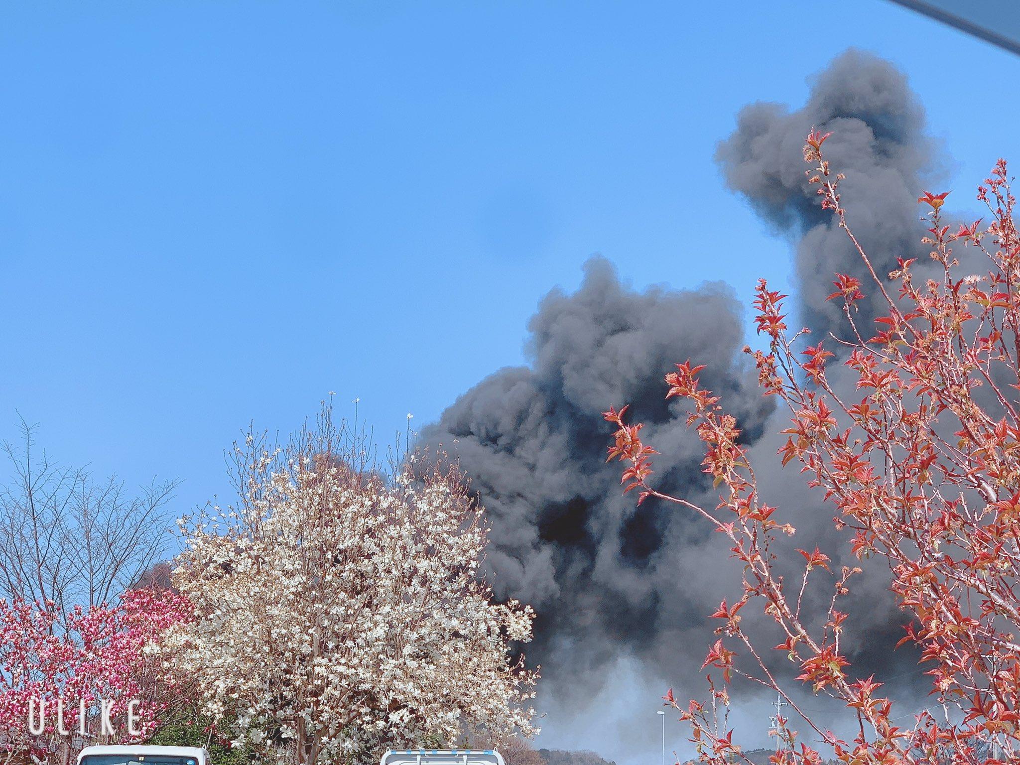 三重県亀山市の火災現場の画像