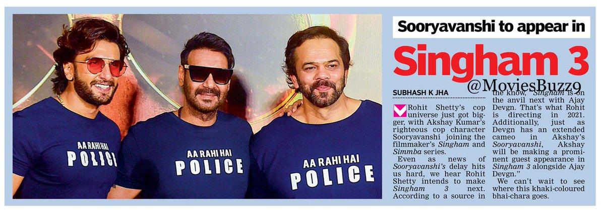 singam 3 Main lead #akshy sir and  cameo #Ajay devgan  Dhamaka to hoga hi pic.twitter.com/pogxlicBPZ
