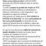 Image for the Tweet beginning: #SNCF propose la gratuité des
