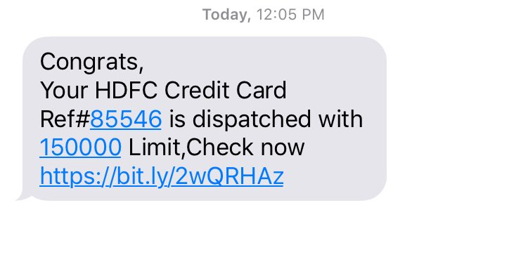 @HDFC_Bank @HDFCBank_Cares Have recieved this message .. Pls confirm whether it is genuine or fraud?