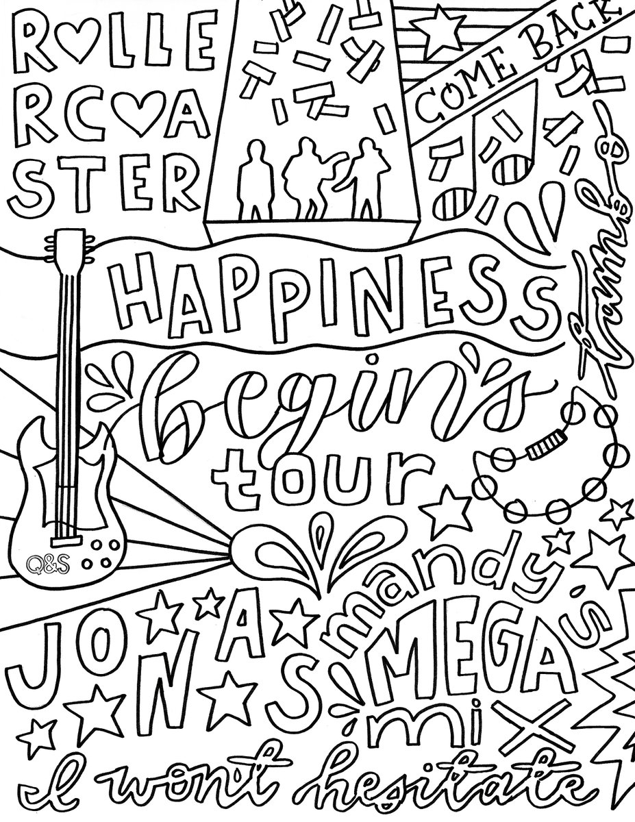 Jonas brothers coloring pages | 1200x927