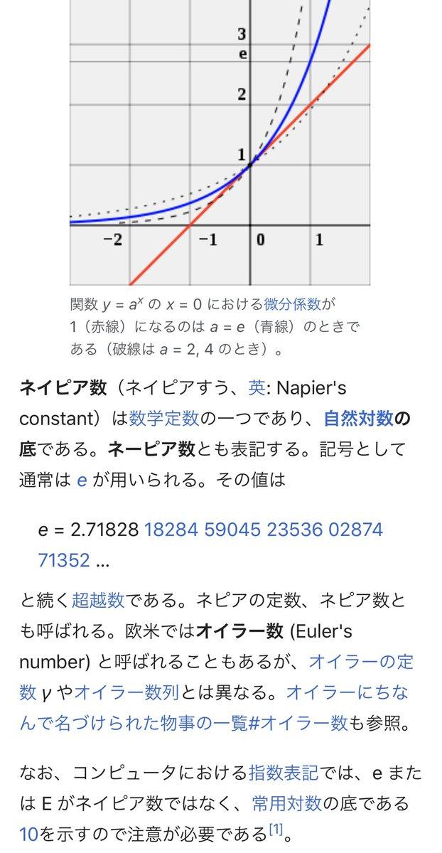 ネイピア 数 定義