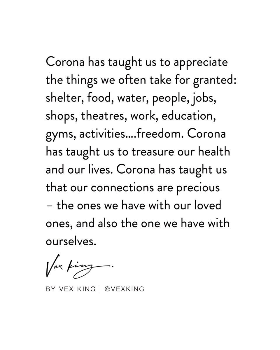 What has the Coronavirus taught you? #MondayMotivation