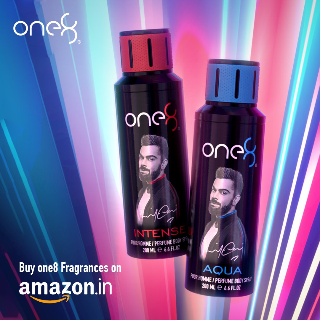 Keep your stock of fragrances ready! Add one8 Fragrances to your cart on @amazonIN today. Get it here:   #one8Fragrances #ScentialsWorld @imVkohli