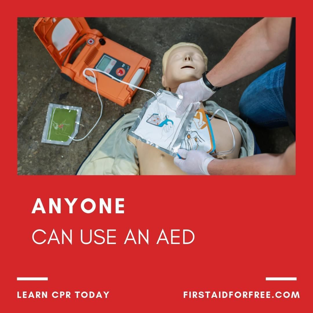 Anyone can use an AED and give CPR! Effective bystander CPR provided immediately after sudden cardiac arrest can double or triple a person's chance of survival⠀ ⠀⠀ #firstaid #firstaider #CPRcertified #firstaidtraining #firstaidclass #firstaidcertifiedpic.twitter.com/90PNtjwe4u