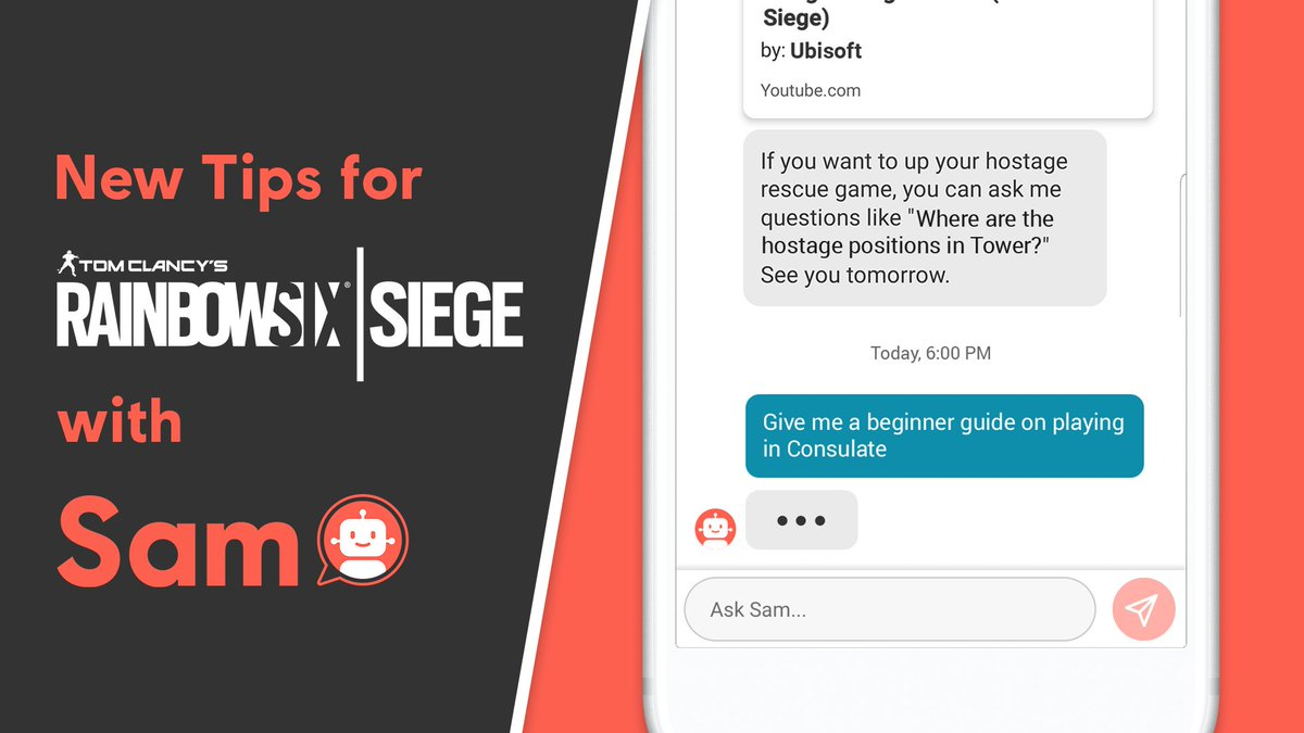 Ubisoft Club On Twitter Road To Champions Improve Your Skills In Rainbow Six Siege With Sam Available In The Club Mobile App Https T Co Wdzjrrs9lj Https T Co Tc5hxbckjr