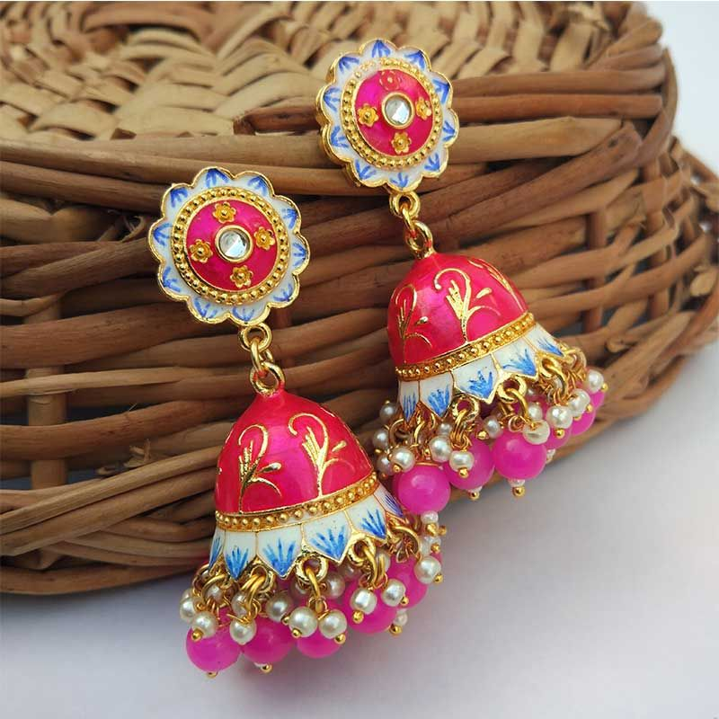 Dark Pink Jhumka Earrings  .. #jhumka #jhumkalover #jhumkaswag #jhumkalove #jhumkas #jhumkaearrings #pinkearrings #pinkearrings#pinkearringstikkaset #earrings #outstanding #chandelier #earrings #jewelry #jewellery #handmadejewelry #accessories #earringsoftheday #earringpic.twitter.com/5zqNdf5T6r