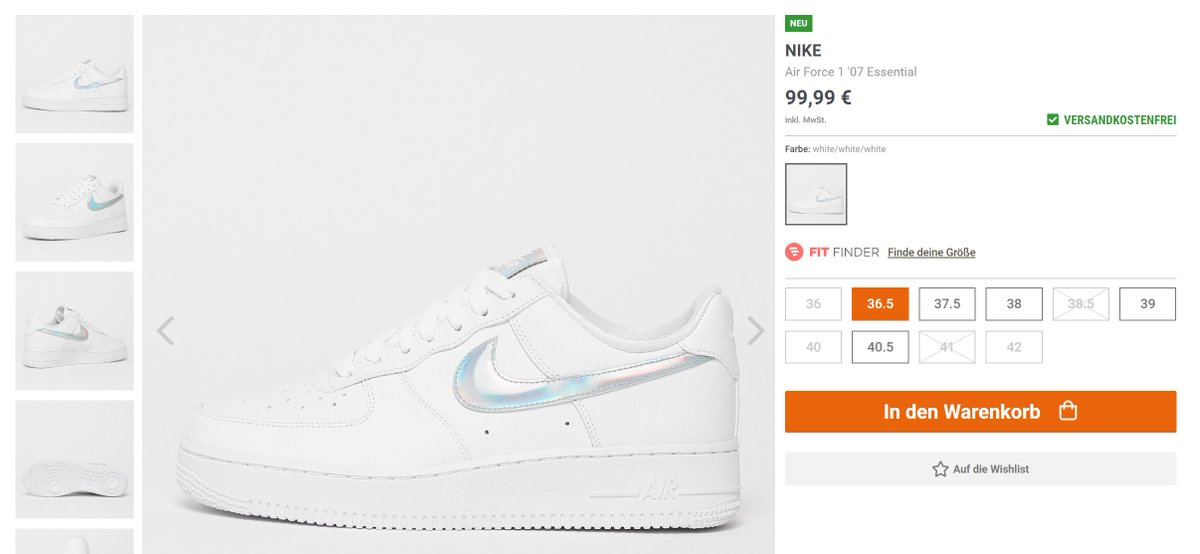 AD: Wmns Nike Air Force 1 07 Essential