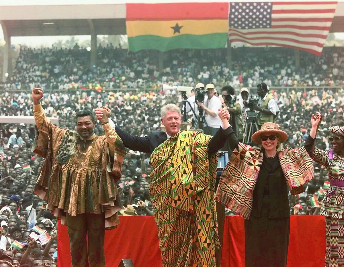 "US Embassy Ghana on Twitter: ""#OTD in Ghana-U.S. History: On March 23, 1998, U.S. President Bill Clinton arrived in Ghana. This marked the first visit of a sitting U.S. president to Ghana."