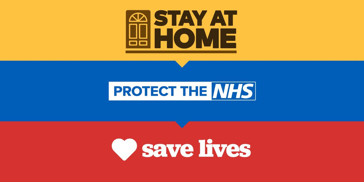 #Stayathomesavelives – please only leave your home if you really have to •Everyone should work from home if they can, this should be supported by employers. 1/3
