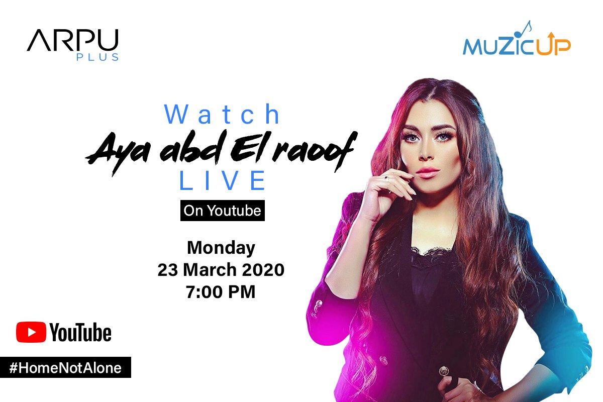 Entertainment mood: ON! 🔥 Join us today at 7:00pm to see Aya Abd ElRaoof LIVE on YouTube – https://t.co/vWWnqBom7a  النهارده آيه عبد الرؤوف لايڤ على يوتيوب الساعة ٧:٠٠ – اتفرج من خلال اللينك: https://t.co/vWWnqBom7a https://t.co/L5byzEZfdX