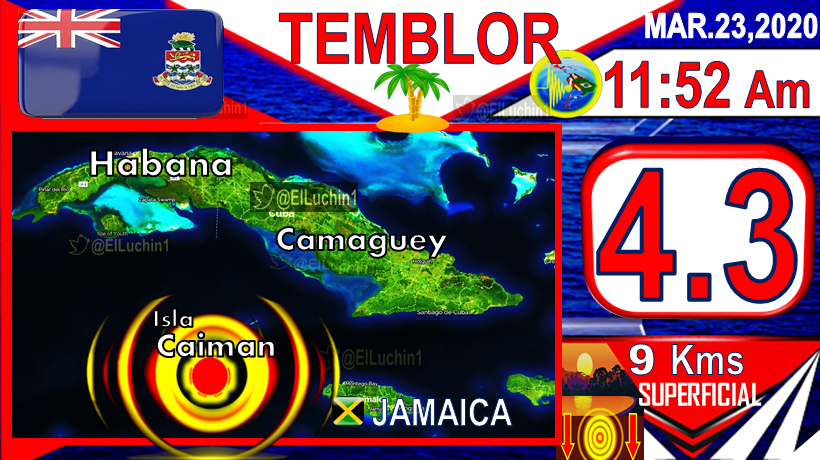 #Quake 4.3 #GeorgeTown  a 47 Kms to the South East 11:52 Am  Morning #Cayman Islands  23 March  DEPTH 9 Kms   Islas Caiman #Caribe #Caribbean #Monday #Sismo Sismo #Earthquake #FelizLunes #Temblorpic.twitter.com/ar5nUDQrEL