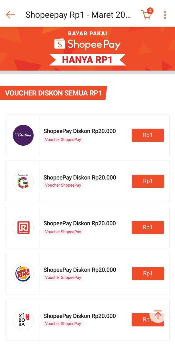 Racun Belanja Info Diskon Promo Cashback On Twitter Bayar Pakai Shopeepay Hanya Rp1 Voucher Diskon Semua Rp1 Untuk Merchant Tertentu Cek Disini Https T Co Xsgu3fdkcm
