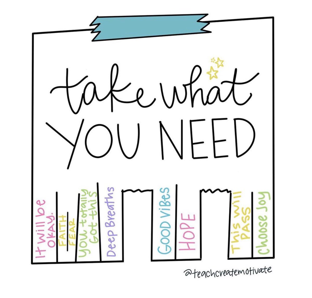 ✨What do you need to take today? We are here for you.✨ 📸 : @teachcreatemotivate