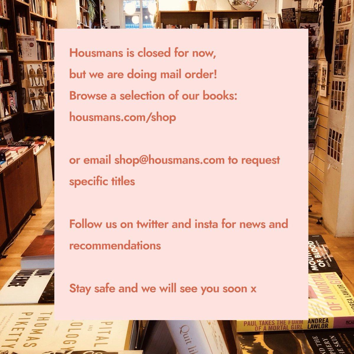 Housmans Bookshop (@HousmansBooks) on Twitter photo 23/03/2020 13:55:47