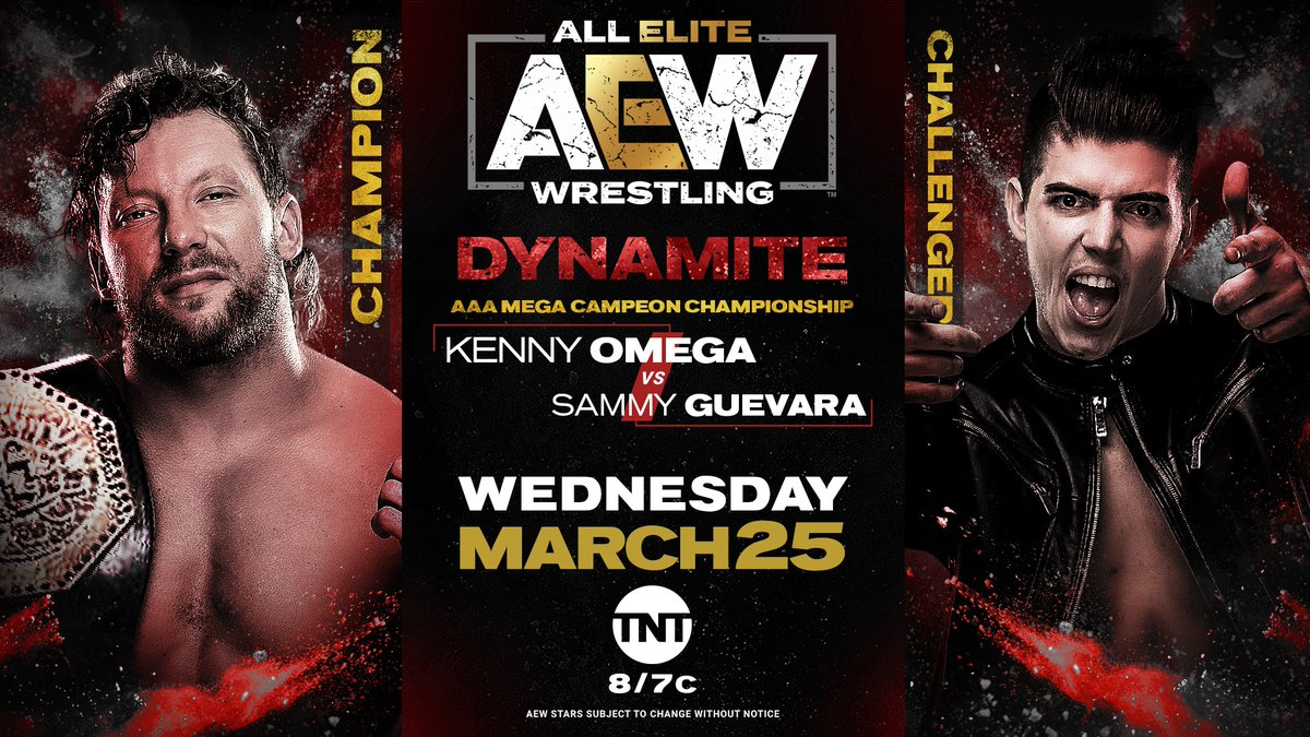 Kenny Omega To Defend AAA Mega Championship Against Sammy Guevara On AEW Dynamite