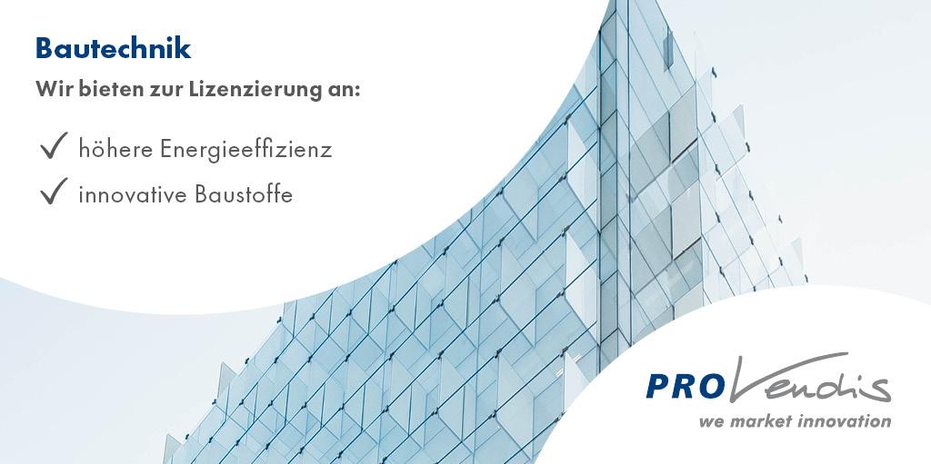 PROvendis bietet attraktive #Technologien aus der #Bautechnik zur #Lizenzierung, zum #Kauf oder für #Entwicklungskooperationen an: http://bit.ly/PROvendis_Bautechnik… #Innovation #Erfindung #Technologietransfer #WeMarketInnovationpic.twitter.com/VNp1tfLXub