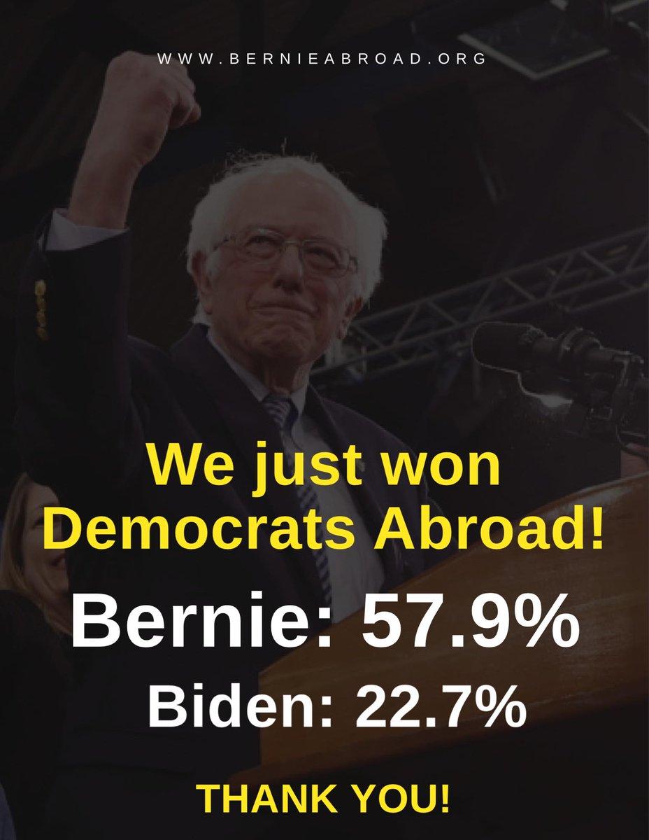 We just won Democrats Abroad!