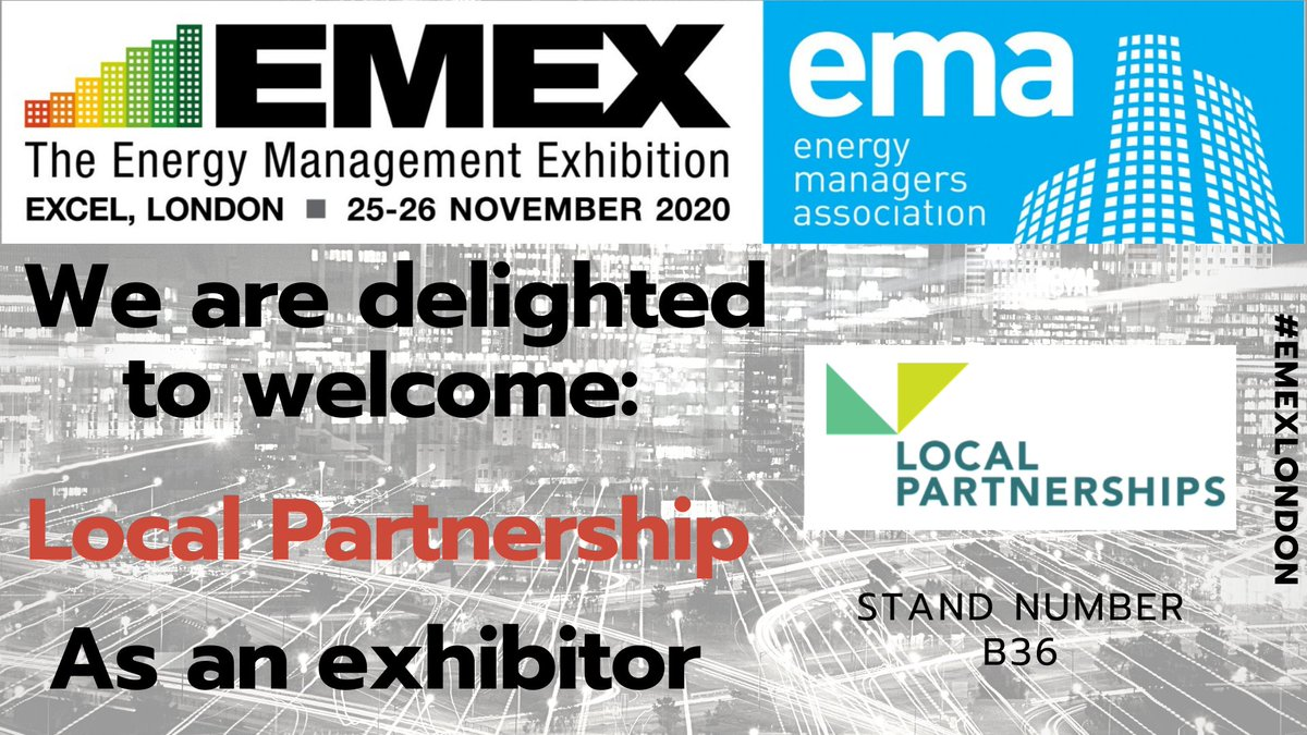 RT @EMEXLONDON We are delighted to welcome back @LP_localgov to #emexlondon 2020   #energyservices  #energyefficiency  #energymanagement  #energyprojects #ReFit #carbonreduction  #carbonemissions #energyreduction