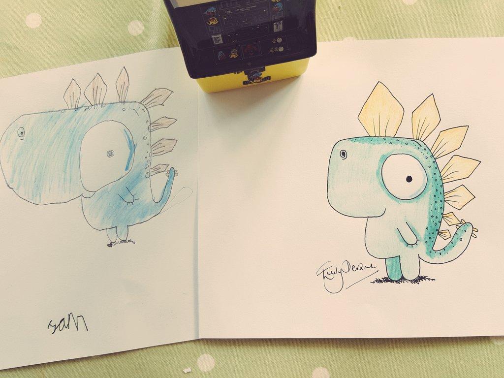 @RobBiddulph Loved drawing the Gregosaurus. Thanks, #DrawWithRob 🦕💛.