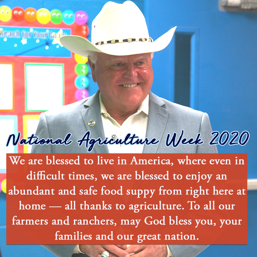 Happy National Agriculture Week! We are thankful for our farmers and ranchers and the sacrifices they make to help us get through even the most difficult time!