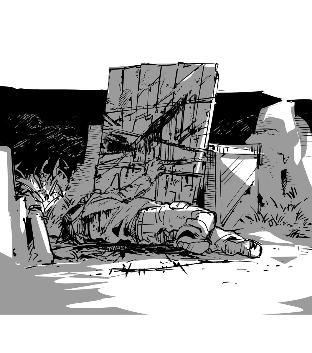 ジェイクアンソロの手慣らしに描いたやつ 楽しみです https://t.co/EZvbYDfcjV