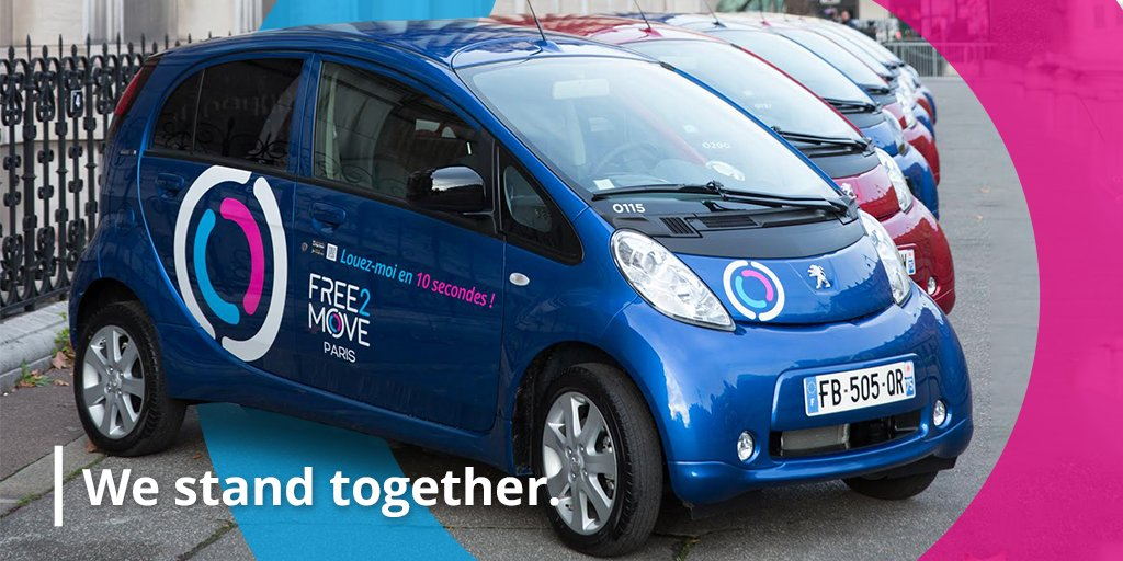Facing the sanitary situation we are going through, #Free2Move offers its help and makes vehicles from its electric fleet available to Paris hospitals and health professionals. https://t.co/RLZUP4soq6