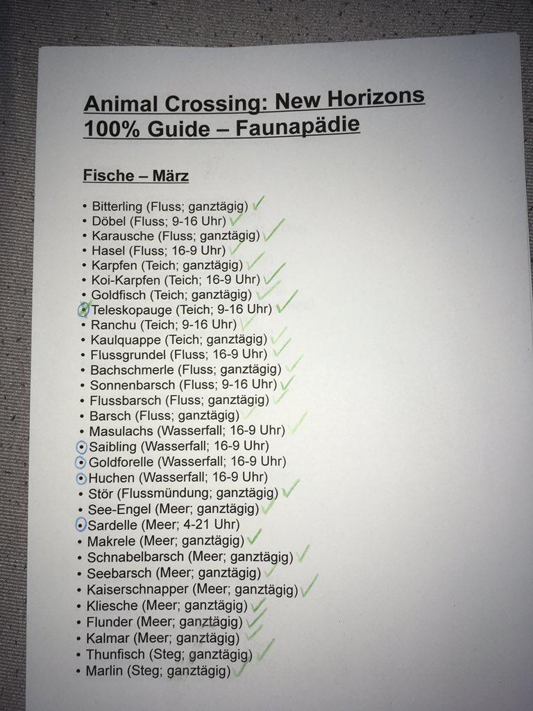 animal crossing fische märz