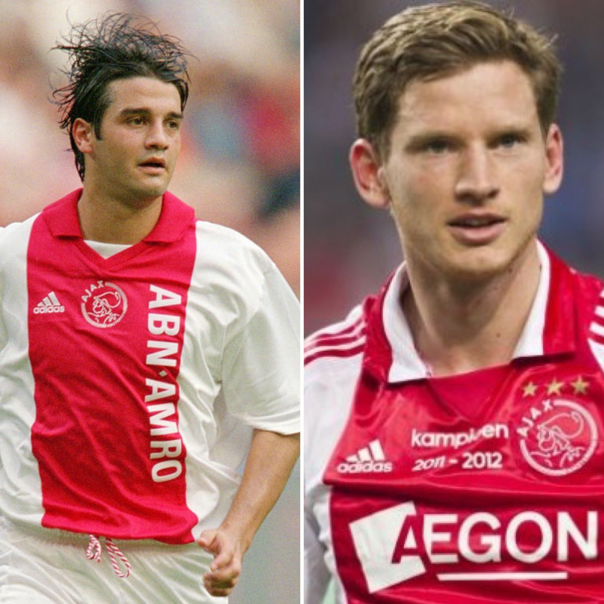 Let's do one more! Looking back (PART III): Who was the better player at Ajax? ...  #ajax #football #soccer #Italy #UnitedStatesofAmerica #Wales #Colombia #IvoryCoast #Cameroon #Egypt #Mexico #Morocco #Brazil #Japan #Croatia #Poland #Spain #Germany #Sweden #Belgium #Romaniapic.twitter.com/p6tFayAdmB