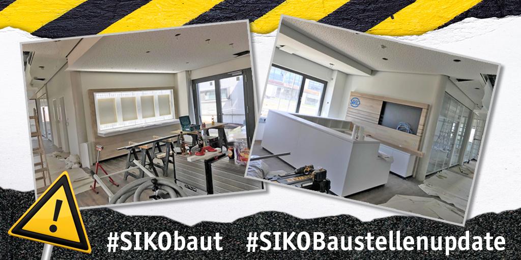 Da fühlen sich Gäste, #Kunden und Partner im neuen #Verwaltungsgebäude in #Bad Krozingen gleich willkommen: Der Eingangsbereich nimmt langsam Gestalt an. Künftig wird es auch einen kleinen #Showroom geben. #SIKO #SIKObaut #SIKOBaustellenUpdate #NeuerStandort