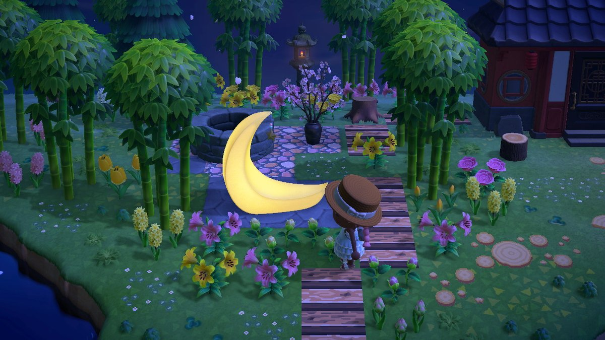 On Twitter Moon Fairy Garden Day Night Animalcrossing Acnh Nintendoswitch