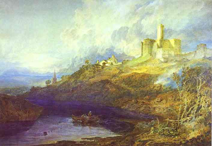 Warkworth Castle, Northumberland; Thunderstorm Approaching at Sunset, 1799 #englishart #romanticismpic.twitter.com/GPRrQV7IQT