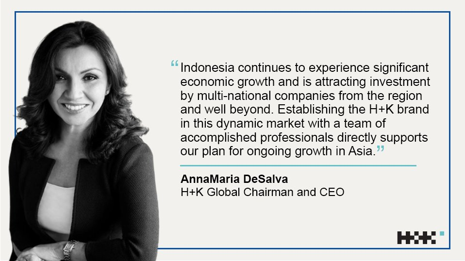 We are pleased to announce the opening of our new office, H+K Indonesia. H+K Indonesia will be led by CEO Marianne Admardatine, former CEO, @WunThompsonIDN. #HKfamily @HK_APAC https://www.hkstrategies.com/?p=39166&preview=true…pic.twitter.com/CzfHTpxNRN