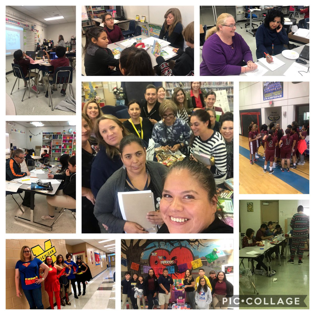 Some of my favorite pictures, our teachers always supporting our Scorpions @BSybert_PK8 #TeamSISD